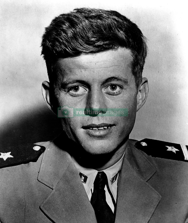 John F. Kennedy, the nation's 35th President, would have turned 100 years old on May 29, 2017. With the centennial anniversary of John F. Kennedy's birth, the former president's legacy is being celebrated across the nation. PICTURED: Mar 28, 1944; Pacific Ocean; JOHN F. KENNEDY Navy portrait circa World War II.  (Credit Image: JFK Collection/JOHN F. KENNEDY LIBRARY/ZUMAPRESS.com)