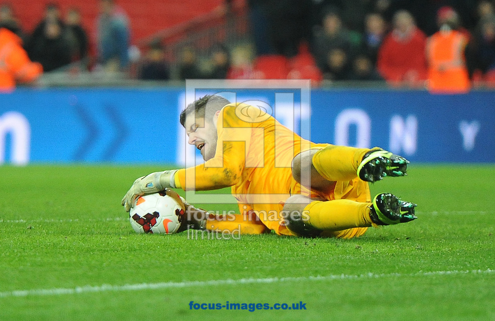 Picture by Daniel Hambury/Focus Images Ltd +44 7813 022858<br /> 15/11/2013<br /> Fraser Forster of England during the Friendly match at Wembley Stadium, London.