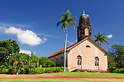 Originally built in the 1830's this church in Waimea, Kauai was almost destroyed by Hurricaine Iniki in 1992.