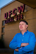 United Food & Commercial Workers Union Local 538 President Doug Leikness poses for a portrait, Friday, May 5, 2017. Leikness is a third-generation employee of Oscar Mayer and has worked at the plant for more than twenty years.