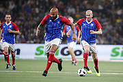Zinedine Zidane (France 98), Thierry Henry (France 98) during the 2018 Friendly Game football match between France 98 and FIFA 98 on June 12, 2018 at U Arena in Nanterre near Paris, France - Photo Stephane Allaman / ProSportsImages / DPPI