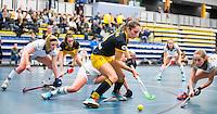 BARNEVELD - Hoofdklasse zaalhockey dames. Den Bosch-Rotterdam (1-0). Pleun van der Plas (Den Bosch) COPYRIGHT KOEN SUYK