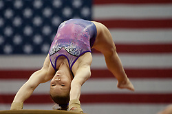 USA Gymnastics GK Classic - Schottenstein Center, Columbus, OH - July 28th, 2018.  Kara Eaker during warm-ups,  competes on the vault  at the Schottenstein Center in Columbus, OH; in the USA Gymnastics GK Classic in the senior division. Simone Biles won the allround with Riley McCusker second and Morgan Hurd third. - Photo by Wally Nell/ZUMA Press