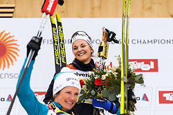 February 24, 2019 - Seefeld In Tirol, AUSTRIA - 190224 Stina Nilsson of Sweden celebrates at the podium after in women's team sprint final during the FIS Nordic World Ski Championships on February 24, 2019 in Seefeld in Tirol..Photo: Joel Marklund / BILDBYRN / kod JM / 87888 (Credit Image: © Joel Marklund/Bildbyran via ZUMA Press)