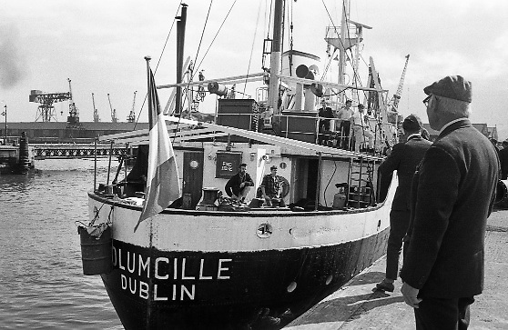 The MV Columcille sets sails for Biafra, carrying food, clothes and medicines. The Irish public had raised £100,000 for the newly-formed Africa Concern ( Now Concern). Three more ships followed in a two year period in which the charity raised more than £3.5m from the Irish public, a huge figure at that time.. 06.09.1968