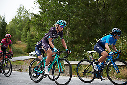 Anna Christian (GBR) in the break on the categorised climb at Ladies Tour of Norway 2018 Stage 3. A 154 km road race from Svinesund to Halden, Norway on August 19, 2018. Photo by Sean Robinson/velofocus.com