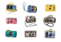 9 Disposable Camera Poster<br /> -<br /> 38&quot;x26&quot;under Acrylic Glass mounted on Aluminum Dibond.<br /> -<br /> $1,300.00 + shipping