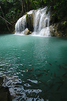 Waterfalls at Erawan National Park, Kanchanaburi Province, Thailand