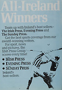 All Ireland Senior Hurling Championship - Final,.Kilkenny 2-14, Cork 2-12,.04.09.1983, 09.04.1983, 4th September 1983,.Kilkenny v Cork, .04091983AISHCF,..The Irish Press, Evening Press, The Sunday Press,
