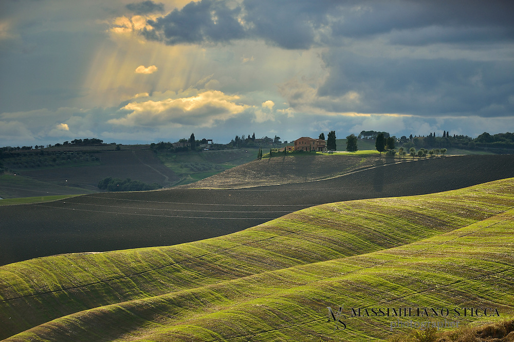 The Crete Senesi refers to an area of the Italian region of Tuscany to the south of Siena. It consists of a range of hills and woods among villages and includes the comuni of Asciano, Buonconvento, Monteroni d'Arbia, Rapolano Terme and San Giovanni d'Asso, all within the province of Siena.<br /> Crete senesi are literally &acirc;??Senese clays&acirc;??, and the distinctive grey colouration of the soil gives the landscape an appearance often described as lunar. This characteristic clay, known as mattaione, represents the sediments of the Pliocene sea which covered the area between 2.5 and 4.5 million years ago. Nearby is also the semi-arid area known as the Accona Desert.<br /> Perhaps the most notable edifice of this area is the monastery of Monte Oliveto Maggiore.<br /> The region is known for its production of white truffles, and hosts a festival and a museum dedicated to the rare fungus (genus Tuber).