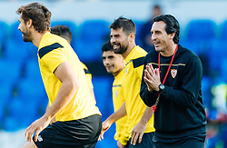 17.05.2016, St. Jakob Park, Basel, SUI, UEFA EL, FC Liverpool vs Sevilla FC, Finale, im Bild Llorente (FC Sevilla), Trainer Unai Emery (FC Sevilla) // Llorente (FC Sevilla), Trainer Unai Emery (FC Sevilla) during the Training in front of the Final Match of the UEFA Europaleague between FC Liverpool and Sevilla FC at the St. Jakob Park Stadium in Basel, Switzerland on 2016/05/17. EXPA Pictures © 2016, PhotoCredit: EXPA/ JFK