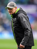 LONDON, ENGLAND - MARCH 17: Ireland's Head Coach Joe Schmidt during the pre match warm up before the NatWest Six Nations Championship match between England and Ireland at Twickenham Stadium on March 17, 2018 in London, England. (Photo by Ashley Western - MB Media via Getty Images)