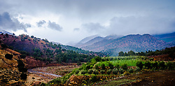Rain clouds over the Atlas Mountains approaching the Tichka Pass<br /> <br /> (c) Andrew Wilson | Edinburgh Elite media