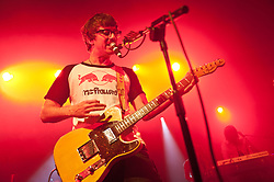 © Licensed to London News Pictures. 13/04/2012. Oxford, UK. Blur guitarist Graham Coxon performing at the first night of his solo UK tour in the O2 Academy Oxford  Graham has just released his eighth solo album, A&E (rated 9/10 by NME, 4.5/5 by The Fly) ( Photo credit : Richard Isaac/LNP