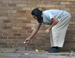 © Licensed to London News Pictures. 13/11/2015. London, UK.  Former Guantanamo detainee Shaker Aamer leaves some food for a cat outside his home. Shaker Aamer was freed recently after being incarcerated in the US prison located in Cuba since 2002.  Photo credit: Peter Macdiarmid/LNP