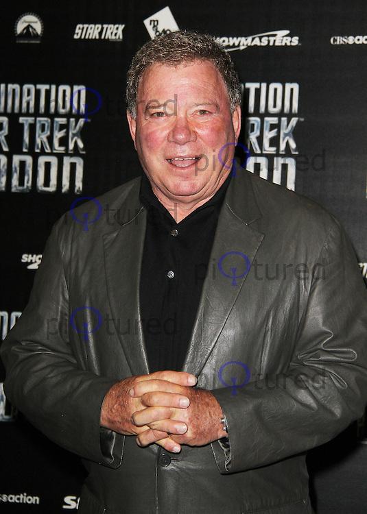 LONDON - OCTOBER 19: William Shatner attended 'Destination Star Trek London' at the ExCel Centre London, UK, October 19, 2012. (Photo by Richard Goldschmidt)