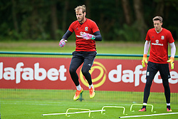 CARDIFF, WALES - Friday, September 2, 2016: Wales' goalkeeper Owain Fon Williams during a training session at the Vale Resort ahead of the 2018 FIFA World Cup Qualifying Group D match against Moldova. (Pic by David Rawcliffe/Propaganda)