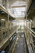 Benbow wing inside HMP/YOI Portland, a resettlement prison with a capacity for 530 prisoners. Dorset, United Kingdom.