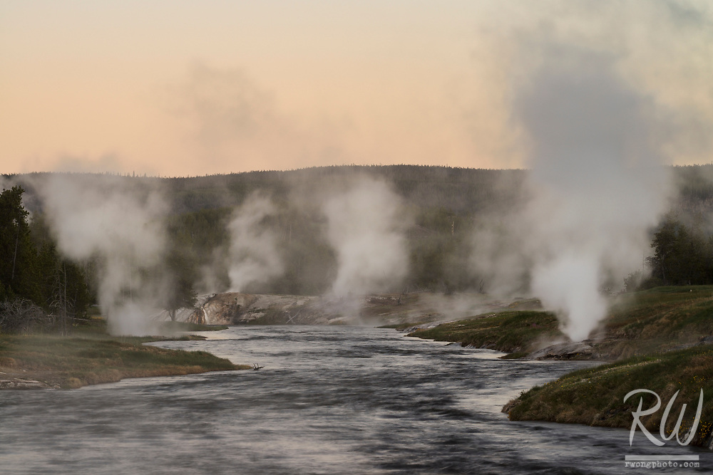 Firehole River at Dawn, Yellowstone National Park, Wyoming