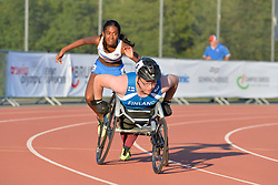 06/08/2017; Hilmarsdottir Helena Osk, T38, ISL, Ristiranta Niko, T54, FIN at 2017 World Para Athletics Junior Championships, Nottwil, Switzerland