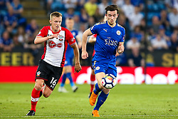 James Ward-Prowse of Southampton takes on Ben Chilwell of Leicester City - Mandatory by-line: Robbie Stephenson/JMP - 19/04/2018 - FOOTBALL - King Power Stadium - Leicester, England - Leicester City v Southampton - Premier League