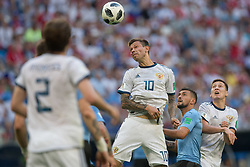 June 25, 2018 - Samara, Russia - Fedor Smolov of Russia in action during the 2018 FIFA World Cup Russia group A match between Uruguay and Russia at Samara Arena on June 25, 2018 in Samara, Russia. (Credit Image: © Foto Olimpik/NurPhoto via ZUMA Press)