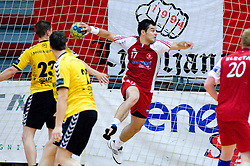 Peter Hrvatin of Slovan at handball match of MIK 1st Men league between RD Slovan and RK Gorenje Velenje, on May 16, 2009, in Arena Kodeljevo, Ljubljana, Slovenia. Gorenje won 27:26. (Photo by Vid Ponikvar / Sportida)