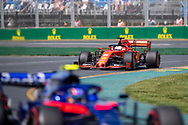 ALBERT PARK, VIC - MARCH 15: Scuderia Ferrari Mission Winnow driver Sebastian Vettel (5) at The Australian Formula One Grand Prix on March 15, 2019, at The Melbourne Grand Prix Circuit in Albert Park, Australia. (Photo by Speed Media/Icon Sportswire)