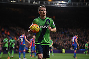 Steven Davies in action during the Barclays Premier League match between Crystal Palace and Southampton at Selhurst Park, London, England on 12 December 2015. Photo by Michael Hulf.