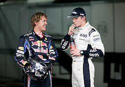 Motorsports / Formula 1: World Championship 2010, GP of Brazil, 05 Sebastian Vettel (GER, Red Bull Racing), 10 Nico Huelkenberg (GER, AT&T Williams),