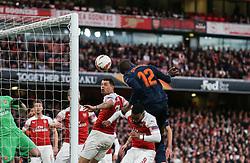 Mouctar Diakhaby of Valencia scores a goal to make it 0-1 - Mandatory by-line: Arron Gent/JMP - 02/05/2019 - FOOTBALL - Emirates Stadium - London, England - Arsenal v Valencia - UEFA Europa League Semi-Final 1st Leg