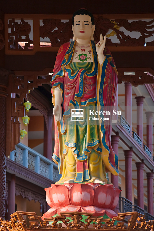 Goddess of Mercy in Chinese temple.
