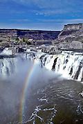 USA, Idaho, Twin Falls, Shoshone Falls with rainbow