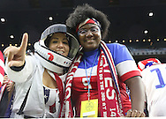 HOUSTON, TEXAS - JUNE 21: Fans pose for photos before the Semifinal match between Argentina and US at NRG Stadium as part of Copa America Centenario US 2016 on June 21, 2016 in Houston, Texas, US. Argentina won 4 to 0. (Photo by Thomas B. Shea/LatinContent/Getty Images)
