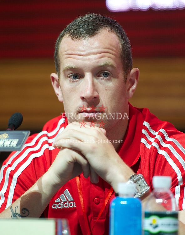 GUANGZHOU, CHINA - Monday, July 11, 2011: Liverpool's new signing Charlie Adam during a press conference at the Chateau Star River Hai Yi Peninsula during the club's Asia Tour. (Photo by David Rawcliffe/Propaganda)