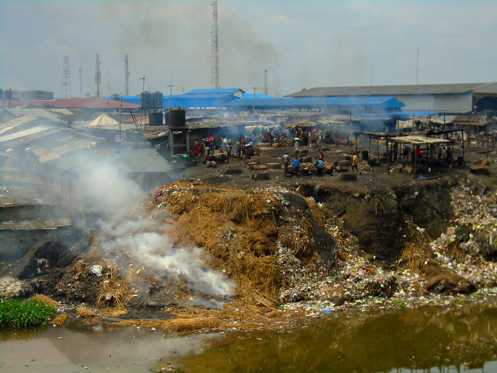 Pollution in Port Harcourt by Tokini Omubo-Pepple, Port Harcourt, 2017