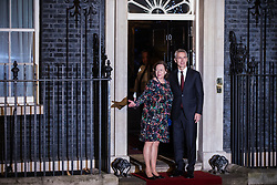 London, UK. 3 December, 2019. NATO Secretary General Jens Stoltenberg arrives with his wife Ingrid Schulerud for a reception for NATO leaders at 10 Downing Street on the eve of the military alliance's 70th anniversary summit at a luxury hotel near Watford.