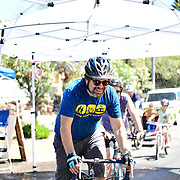 Intrepid bike commuter Jonathan Martin enjoying his ride through the Cyclovia Tucson Rain Tunnel. Jonathan's wife, Carman Ryken, is right behind.