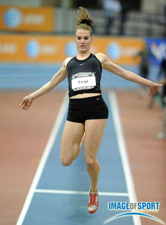 Feb 23, 2008; Boston, MA, USA; Amanda Feigt was 11th in the women's long jump at 18-8 (5.69m) in the AT&T USA Track & Field Indoor Championships at the Reggie Lewis Center.