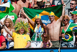 Brazilian fans at A1 Beach Volleyball Grand Slam tournament of Swatch FIVB World Tour 2010, final, on July 31, 2010 in Klagenfurt, Austria. (Photo by Matic Klansek Velej / Sportida)