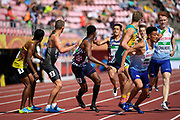 French Team in 4X400 Metres Relay Men during the IAAF World U20 Championships 2018 at Tampere in Finland, Day 6, on July 15, 2018 - Photo Julien Crosnier / KMSP / ProSportsImages / DPPI