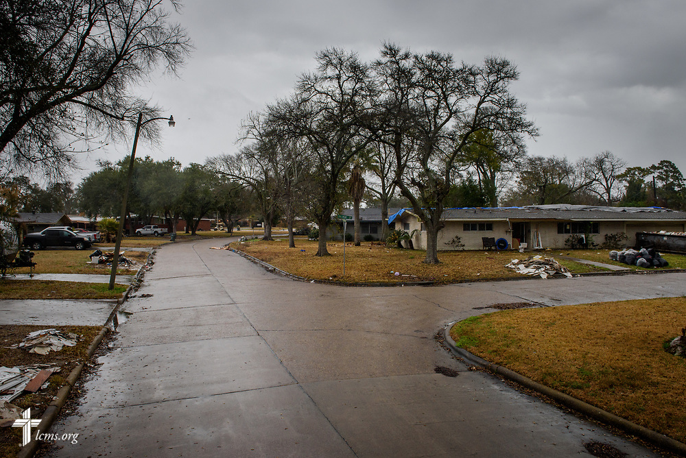 A neighborhood still recovering from Hurricane Harvey on Wednesday, Feb. 7, 2018, in Port Arthur, Texas. LCMS Communications/Erik M. Lunsford