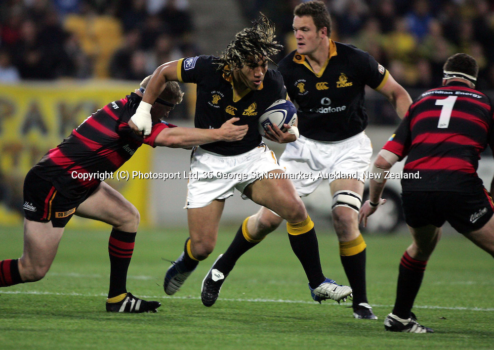 Wellington's Ma'a Nonu in action during the NPC Div 1 Final, Saturday 24 October 2004,Westpac Stadium, Wellington, New Zealand. Canterbury defeated Wellington 40-27.<br />