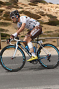 26.01.2013. McLaren Vale, Australia. Blel Kadri of AG2R La Mondiale heavily bandaged after his crash in Stage 4.  Stage 5 of the Santos Tour Down Under 2013 from McLaren Vale to Old Willunga Hill, South Australia