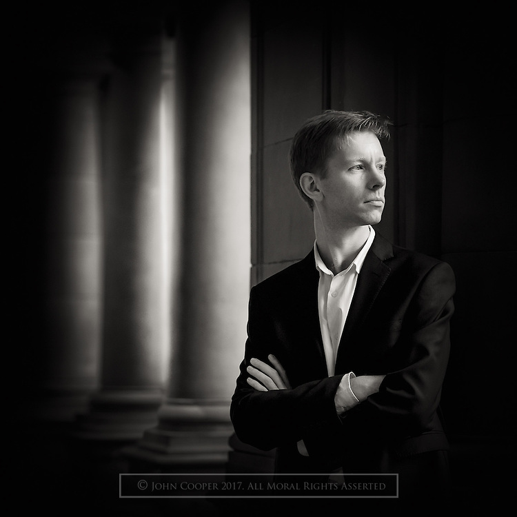 Portrait of baritone, Jon Stainsby.