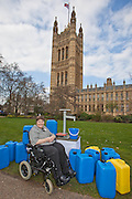 Anne Begg  MP. Marking World Water Day, over 40 MP's walked for water at Westminster, London at an event organised by WaterAid and Tearfund. Globally hundreds of thousands of people took part in the campaign to raise awareness of the world water crisis.