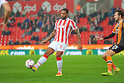 Stoke City defender Glen Johnson plays the ball during the EFL Cup match between Stoke City and Hull City at the Britannia Stadium, Stoke-on-Trent, England on 21 September 2016. Photo by John Marfleet.