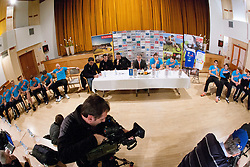 Press conference of Slovenian Handball Men National Team, on January 13, 2011, in Zrece, Slovenia. (Photo by Vid Ponikvar / Sportida)