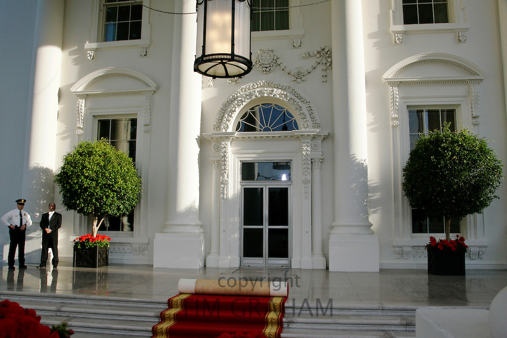 The White House expecting VIP guest, Washington DC, United States of America