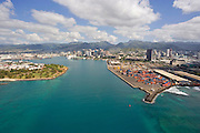 Honolulu Harbor, Oahu, Hawaii